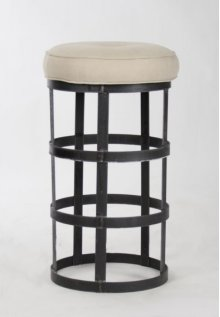 Recycled Metal Bar Stool