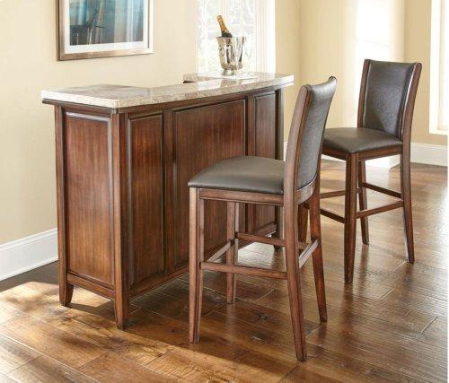 """Eileen Brown PU Bar Chair 19"""" x 23"""" x 45"""""""
