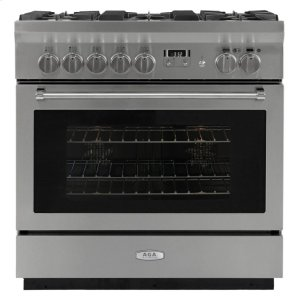 "AGAAGA Professional 36"" Dual Fuel Self Cleaning Range"
