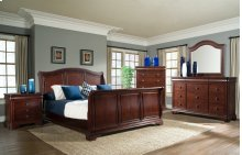 Cameron Cherry Sleigh Bedroom