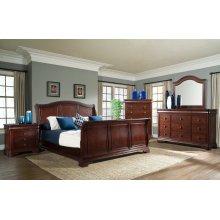 Cameron Cherry Sleigh Bedroom