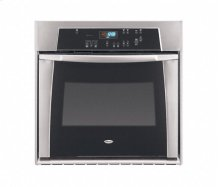 Black-on-Stainless Whirlpool Gold® 30 in. Single Built-In Oven