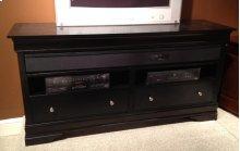 Black LP Surround Sound TV Stand