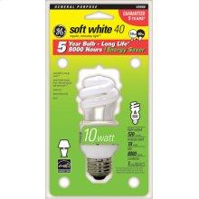 GE 10 Watt Soft White Spiral®