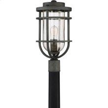 Boardwalk Outdoor Lantern in Mottled Black