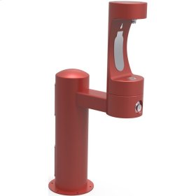Elkay Outdoor EZH2O Bottle Filling Station Pedestal, Non-Filtered Non-Refrigerated Red