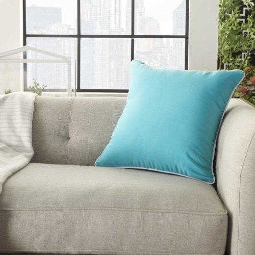 "Outdoor Pillows L9090 Turquoise 18"" X 18"" Throw Pillow"