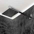 """Wall-mounted shower arm with square flange, D: 15 1/4"""",H: 2 7/8"""" shower head sold separately. Product Image"""