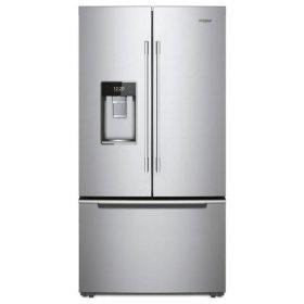 Whirlpool® 36-inch Wide Smart Contemporary Handle Counter Depth French Door-within-Door Refrigerator - 24 cu. ft. - Fingerprint Resistant Stainless Steel