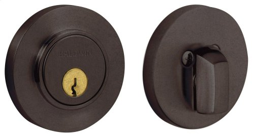 Distressed Venetian Bronze Contemporary Deadbolt