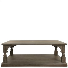 Juniper - Rectangular Caster Coffee Table - Charcoal Finish
