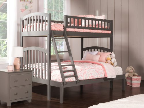 Richland Bunk Bed Twin over Full in Atlantic Grey