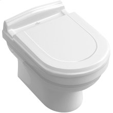Wall-mounted toilet - White Alpin CeramicPlus