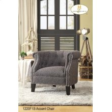 Accent Chair Brownish Grey