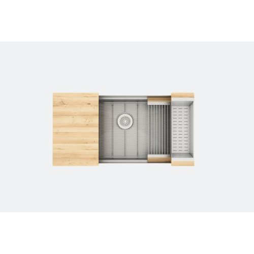 "SmartStation® 005403 - undermount stainless steel Kitchen sink , 36"" × 18 1/8"" × 10"" (Maple)"