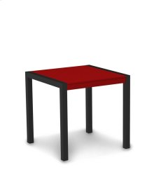 "Textured Black & Sunset Red MOD 30"" Dining Table"