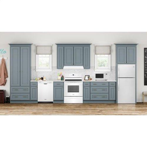 Whirlpool® 28-inch Wide Top Freezer Refrigerator - 14 cu. ft. - Monochromatic Stainless Steel