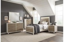 Queen Bed with LED Headboard
