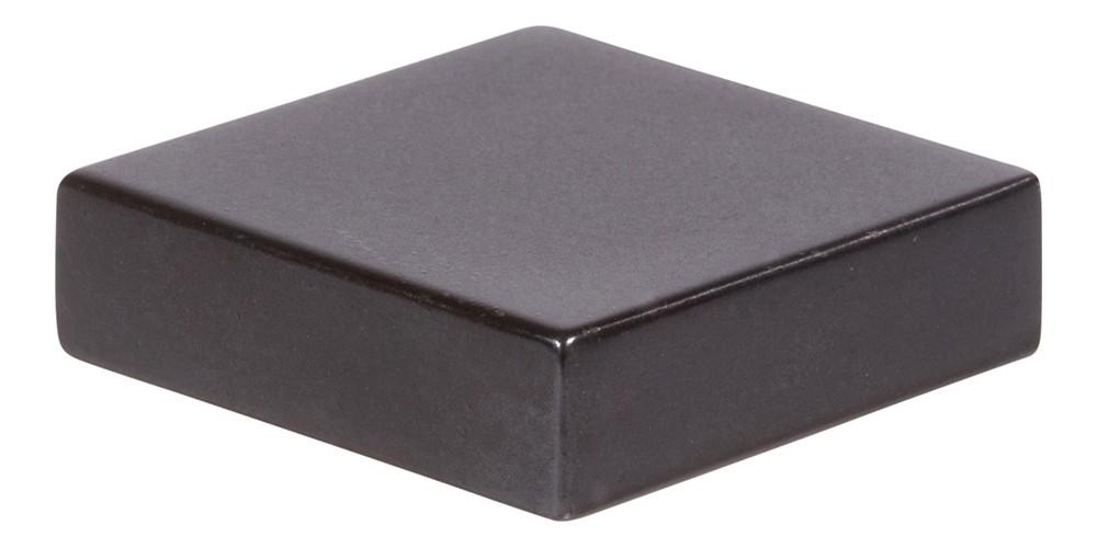 Thin Square Knob 1 1/4 Inch - Modern Bronze