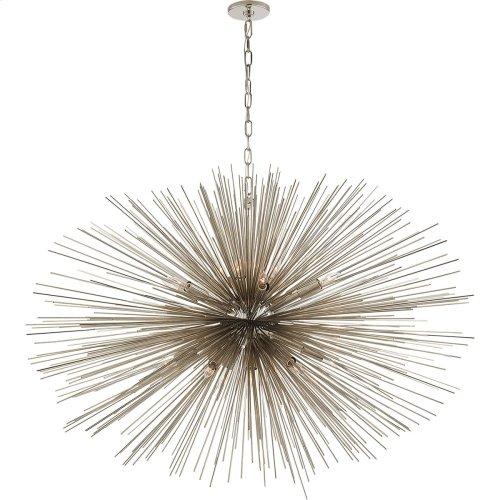 Visual Comfort KW5075PN Kelly Wearstler Strada 20 Light 50 inch Polished Nickel Pendant Ceiling Light, Kelly Wearstler, Large, Oval