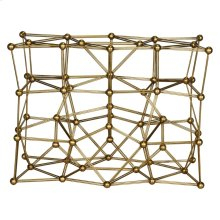 Gold Leaf Iron Console Table Base Only