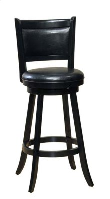 Dennery Swivel Counter Stool W/black Vinyl