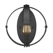 Carter 1 Light Wall Sconce in Aged Bronze