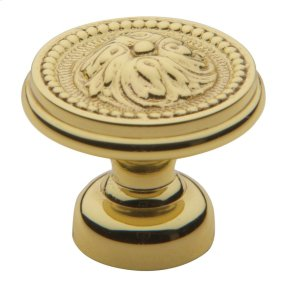 Polished Brass Ornamental Knob