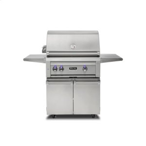 "Viking30""W. Freestanding Grill with ProSear Burner and Rotisserie, Propane Gas"