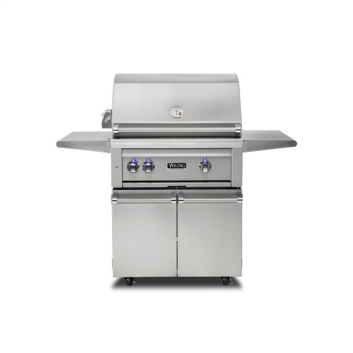 """30""""W. Freestanding Grill with ProSear Burner and Rotisserie, Propane Gas"""