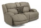 Declan Fabric Power Reclining Loveseat with Console and Power Headrests Product Image