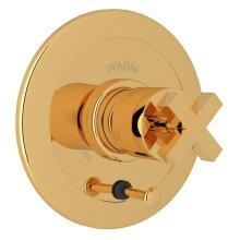 Italian Brass Avanti Integrated Volume Control Pressure Balance Trim With Diverter with Cross Handle