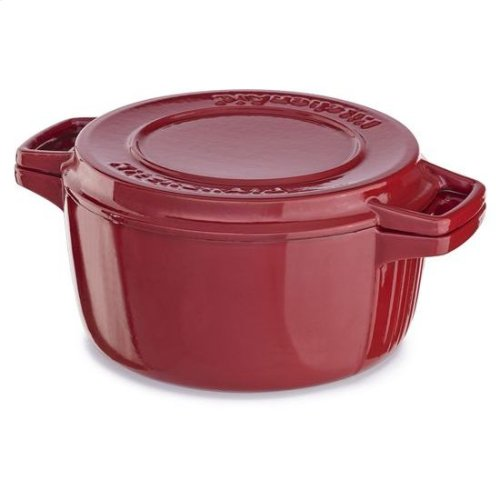 KitchenAid® Professional Cast Iron 4-Quart Casserole - Empire Red
