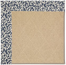 Creative Concepts-Cane Wicker Coral Cascade Navy