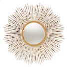 Baxton Studio Apollonia Modern and Contemporary Gold Finished Sunburst Accent Wall Mirror Product Image