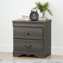 2-Drawer Nightstand - Gray Maple