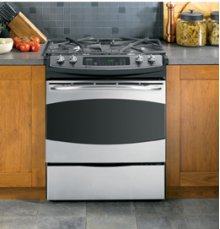 "GE Profile 30"" Slide-In Self-Cleaning Dual Fuel Convection Range **** Floor Model Closeout Price ****"