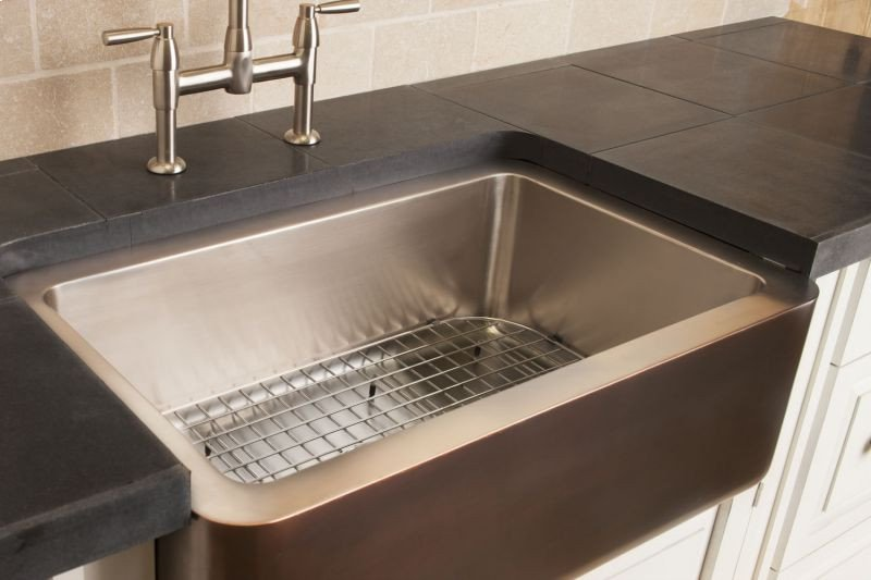 copperstainless farmhouse sink stainless steel stainless steel sink grid hidden - Stainless Steel Sink Grid