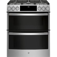 Slide-In Front Control Premium Stainless Steel Appearance, 6.7 cu. Ft. Self-Cleaning Convection Gas Range, Wifi Connectivity
