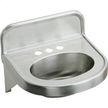 """Elkay Stainless Steel 18"""" x 17-1/16"""" x 5-9/16"""", Wall Hung Lavatory Sink"""