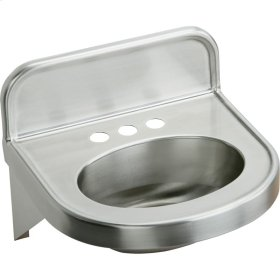 "Elkay Stainless Steel 18"" x 17-1/16"" x 5-9/16"", Wall Hung Lavatory Sink"