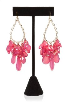BTQ Fushia Beaded Earrings