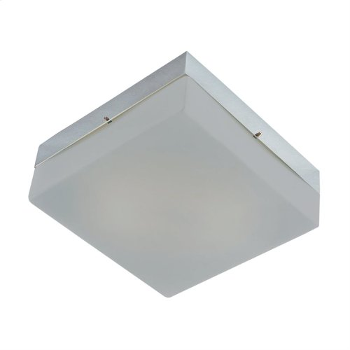 Quad Mini Flushmount Frosted glass / Metallic Grey finish