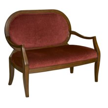 """Burnished Cherry"" Settee with Burgundy Fabric"