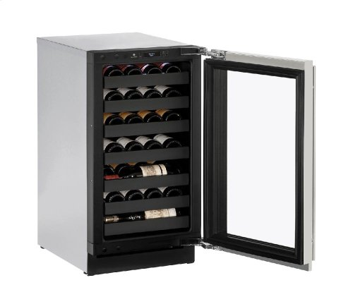 """Modular 3000 Series 18"""" Wine Captain® Model With Stainless Frame Finish and Field Reversible Door Swing"""