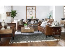 Coffee Leather Dapper Living Room