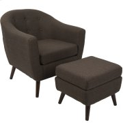 Rockwell Chair with Ottoman - Espresso Product Image