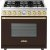 Additional Range DECO 36'' Classic Brown dual color, Gold 6 gas, electric oven, self-clean