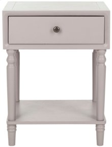 Siobhan Accent Table With Storage Drawer - Quartz Grey