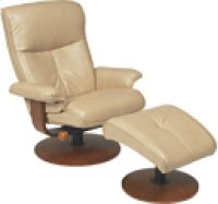 R-634 Nexus Sand Leather Recliner Product Image